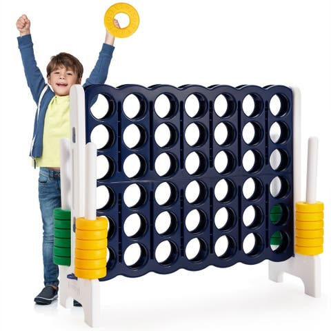 Jumbo 4-to-Score 4 in A Row Giant Game Set Outdoor Indoor Kids Adults Family Fun - Black