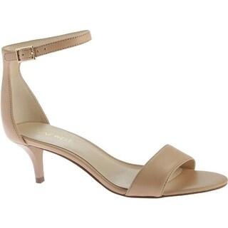 Nine West Women's Leisa Ankle Strap Sandal Natural Leather