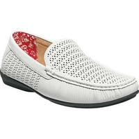 Stacy Adams Men's Cicero Perfed Moc Toe Loafer 25172 White Synthetic