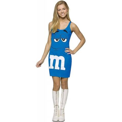 Rasta Imposta M&M'S Blue Tank Dress Teen Costume - One Size Fits Most