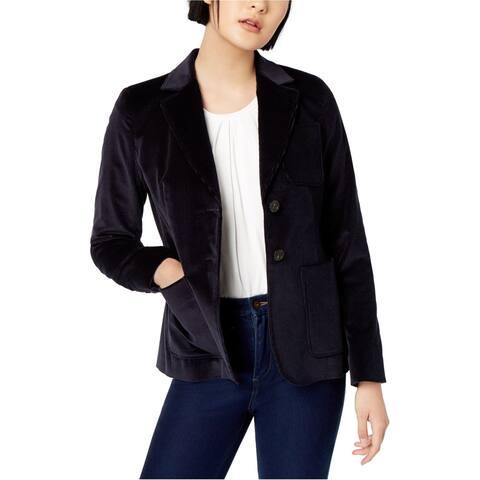MaxMara Womens Zigano Blazer Jacket navy 10