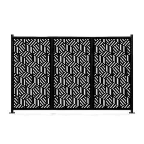 HighlanderHome Freestanding Modular Metal Privacy Screen, 4FtX 6Ft