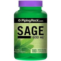 Piping Rock Sage 1600 mg 180 Quick Release Capsules Herbal Supplement