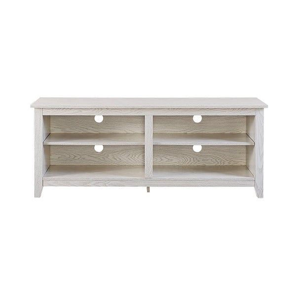 Shop We Furniture 58 Wood Tv Media Stand Storage Console White