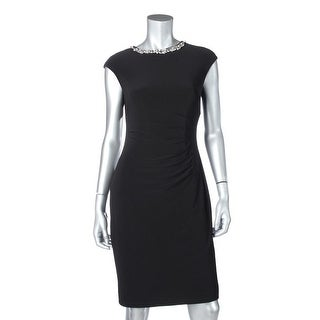 Lauren Ralph Lauren Womens Embellished Pleated Wear to Work Dress