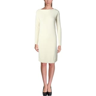 Lauren Ralph Lauren Womens Sweaterdress Ribbed Wool Knit Midi
