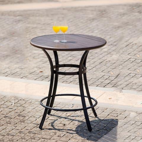 Modern Style Steel Courtyard Round Bar Table