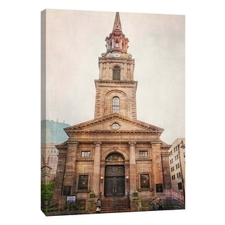 """PTM Images 9-106012  PTM Canvas Collection 10"""" x 8"""" - """"Arlington Church"""" Giclee Buildings and Cityscape Art Print on Canvas"""