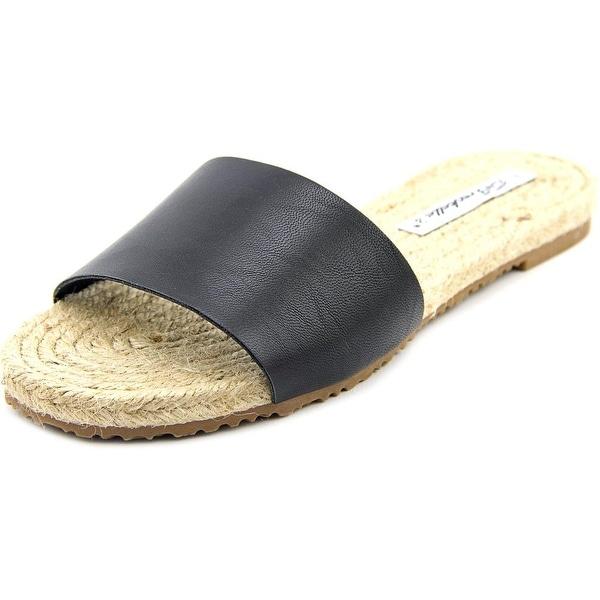 Breckelle's Emma-11   Open Toe Leather  Slides Sandal