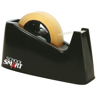 School Smart Tape Dispenser with Interchangeable 1 and 3 Inch Cores, Black