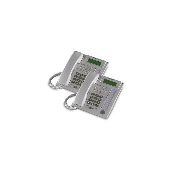 Panasonic-KX-T7736W (2 Pack) Speakerphone Telephone With LCD