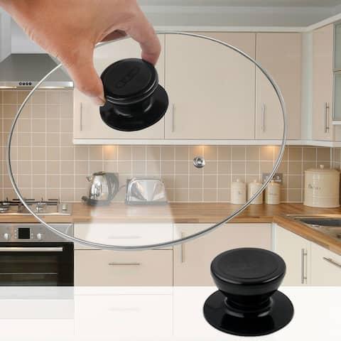 Durable Pan Lid Knob Universal Kitchen Cookware Cover Plastic Handle - 1 Pcs