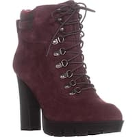 Nine West Abrial Platform Ankle Boots, Dark Red/Dark Red - 10.5 us