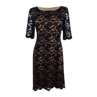 Connected Apparel Women's Lace Sheath Dress