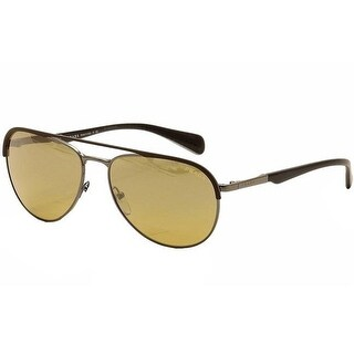 Prada SPR 51Q LAH2C2-Matte Brown Mens Sunglasses, 59-16-140 mm