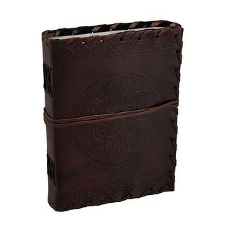 Celtic Knot Leather Bound 240 Page/120 Leaf Journal - brown