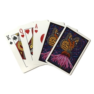Monarch Butterfly - Paper Mosaic - Lantern Press Artwork (Playing Card Deck - 52 Card Poker Size with Jokers)
