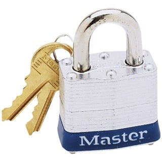"Master Lock 3D Laminated Steel Padlock, 1-9/16"", 4 Pin"