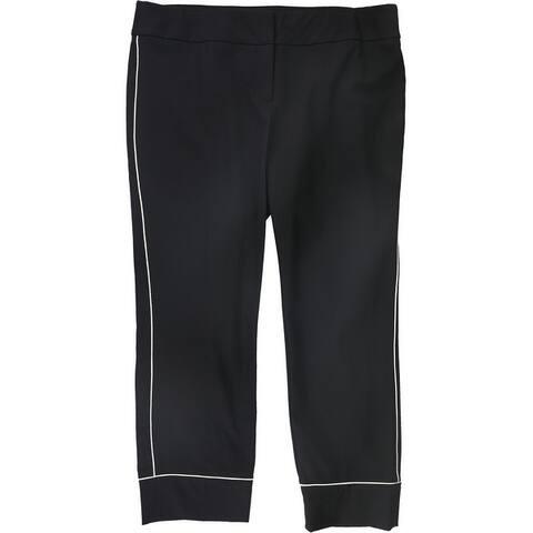Alfani Womens Piping Casual Trouser Pants