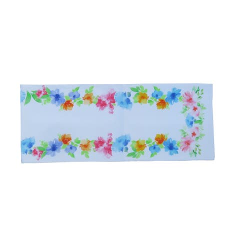 D.Franco Digital Printed Floral Cotton Table Runner - 72 x 14