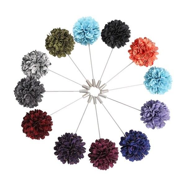 Men's Flower Lapel Pin Boutonniere For Suit