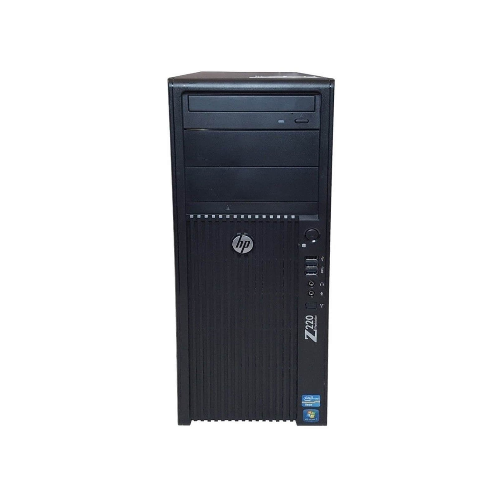 HP Z220 Workstation CMT Refurbished PC - Intel Core i5 3470 3rd Gen 3 2 GHz  8GB 2TB HDD DVD-RW Windows 10 Pro 64-Bit