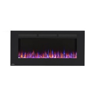 Napoleon NEFL32FH 32 Inch Wide Wall Mount Electric Fireplace with 120V Heater and Touch Screen Control Panel