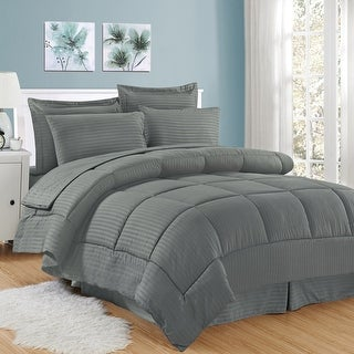 Link to Soft Dobby 8-piece Striped Down Alternative Bed-in-a-Bag Set w/ Sheets Similar Items in Bakeware