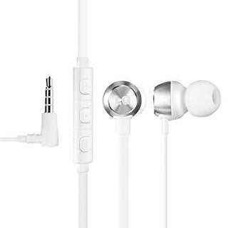 LG Original LE530 Quad Beat 2 headset, 3.5 MM with Mic (White)