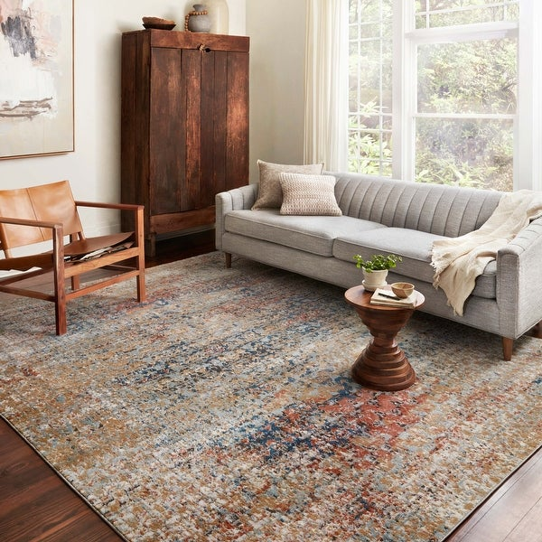 Alexander Home Charlotte Modern Transitional Distressed Area Rug. Opens flyout.
