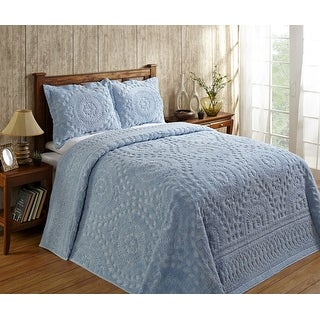 Link to Better Trends Rio Collection in Floral Design 100% Cotton Tufted Unique Luxurious Machine Washable Tumble Dry Similar Items in Bedspreads