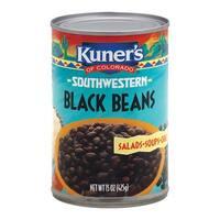 Kuner Black Beans - Case of 12 - 15 oz.