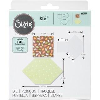 "Sizzix Bigz Dies Fabi Edition-Honeycombs & Squares 1"" & 1.5"" Sides"