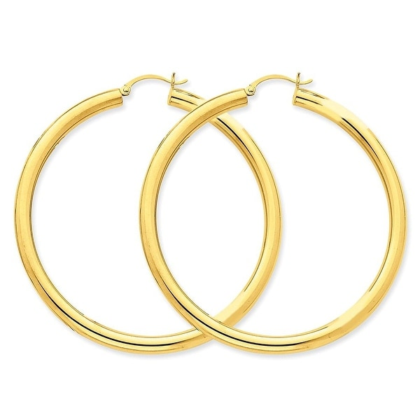 Mcs Jewelry Inc 14 KARAT YELLOW GOLD CLASSIC ROUND HOOP EARRINGS (60MM)