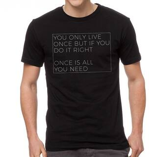 YOLO Once Is All You Need Men's Black T-shirt|https://ak1.ostkcdn.com/images/products/is/images/direct/847852ce92a474b65049dfb91698b3527e7a5a59/YOLO-Once-Is-All-You-Need-Men%27s-Black-T-shirt.jpg?impolicy=medium