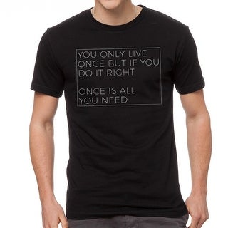 YOLO Once Is All You Need Men's Black T-shirt