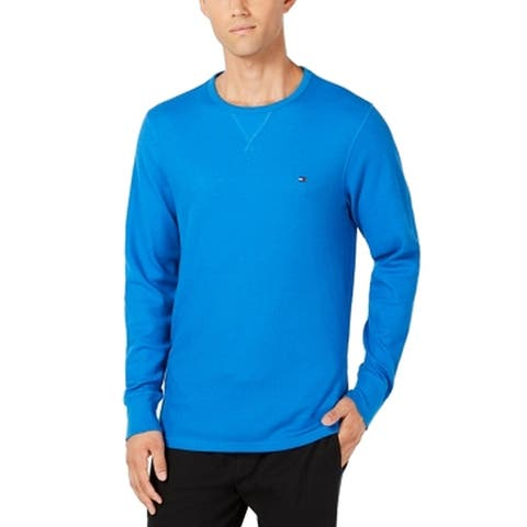 Tommy Hilfiger Mens Sleepwear Blue Size Medium M Thermal Nightshirt