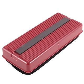 School Office Plastic Shell 14cm Long Blackboard Eraser Red Black