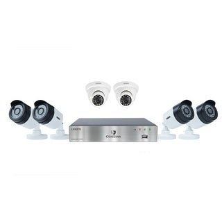 UNIDEN G7842D2 Wired DVR Security Camera System w/ 4 1080P Bullet Cameras, 2 1080P Dome Cameras and 2 TB HDD