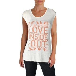 Jessica Simpson Womens Winnie Tank Top Slub Graphic