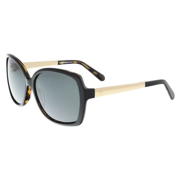 392d51ea37 Shop Kate Spade - Darilynn P S 0JXN Black Tortoise Square Sunglasses ...