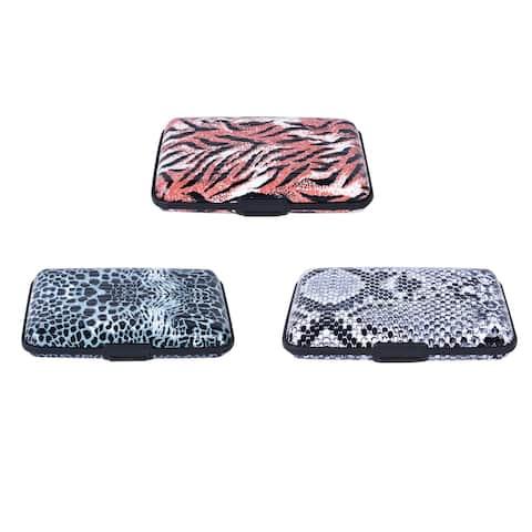 Shop LC 3 Pcs Leopard Tiger Print Aluminum RFID Blocking Card Holder