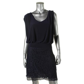 Laundry by Shelli Segal Womens Lace Skirt Sleeveless Cocktail Dress - 8