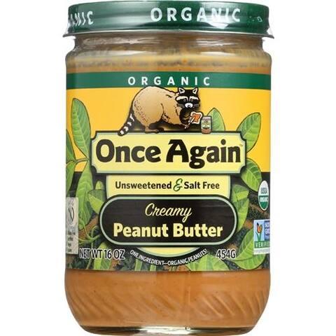 Once Again - No Salt Smooth Peanut Butter ( 12 - 16 OZ)