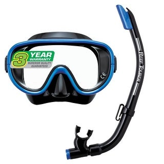 Reef Tourer Adult Single-Window Mask & Snorkel Combo Set