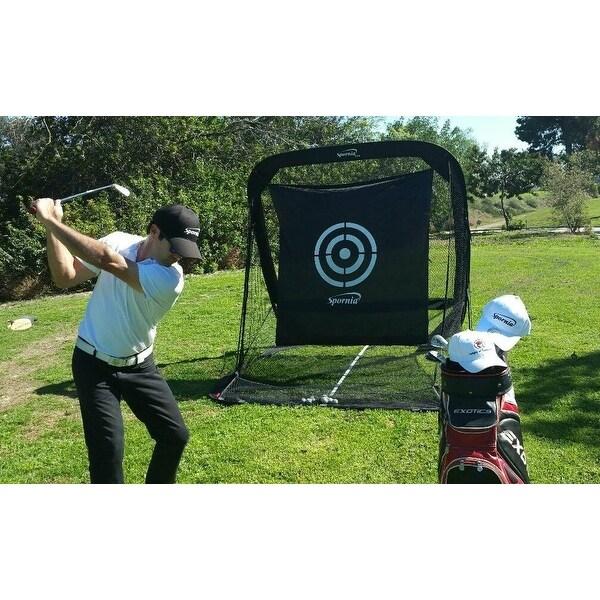 Spornia SPG-5 Golf Net & EverGolf Hitting Mat Bundle