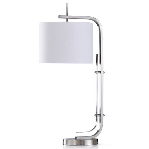 StyleCraft Bennett Chrome Metal Desk Lamp