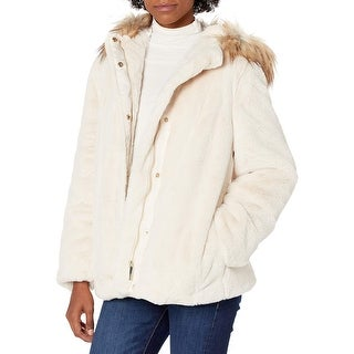 Link to Calvin Klein Womens Jackets White Ivory Size Medium M Hooded Faux-Fur Similar Items in Women's Outerwear