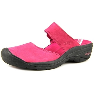 Keen Saratoga Women Round Toe Leather Pink Mules