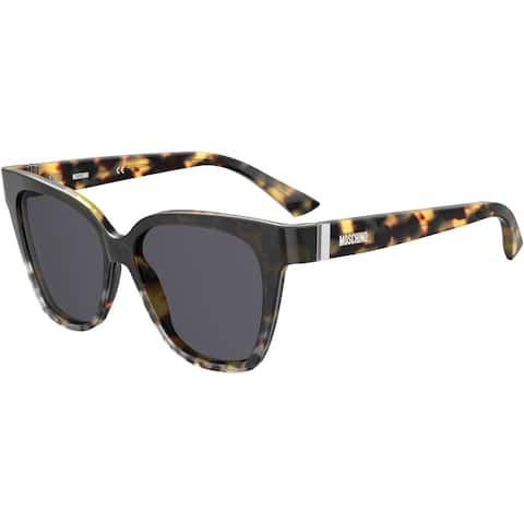Moschino MOS066S 0PUU 55 ANIMAL HV FEMALE ADULT CAT EYE/BUTTERFLY Sungasses
